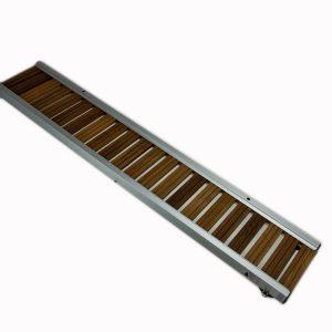 passerella fissa in legno iroko