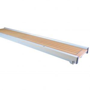 passerella fissa con legno teak gommato