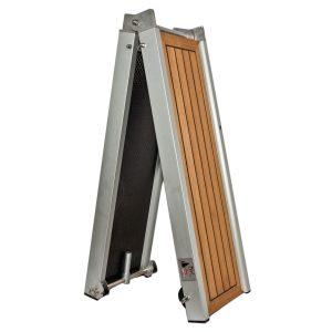 passerella pieghevole con legno teak gommato