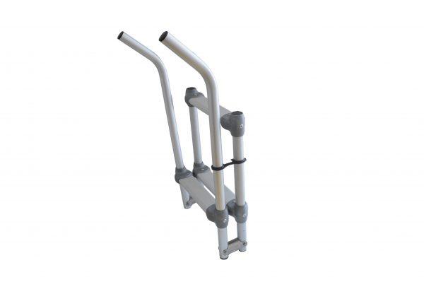 scaletta ribaltabile in alluminio con attacco a 45°