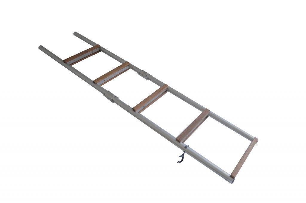 Scaletta In Legno Pieghevole : Scaletta pieghevole fissa in alluminio legno per gommone in